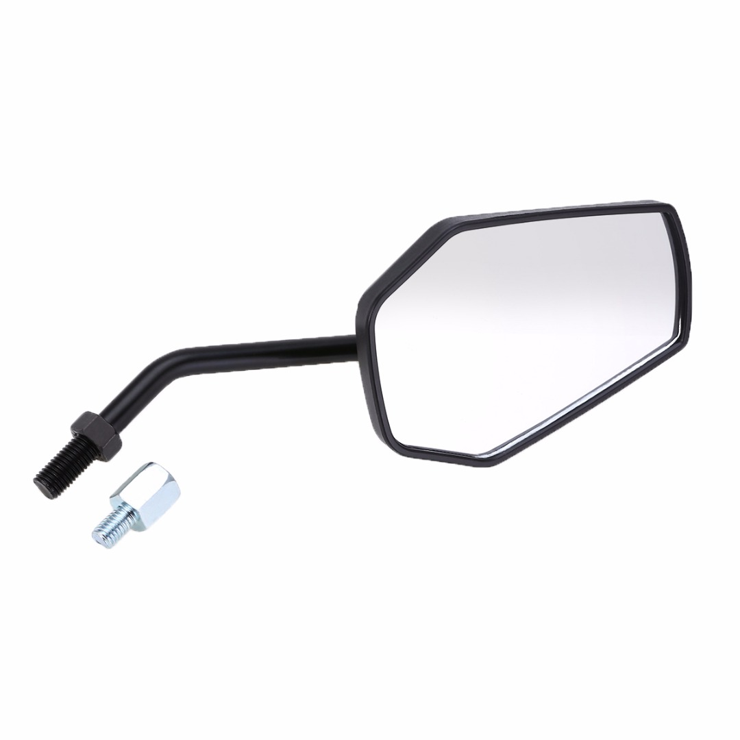 Side Mirrors & Accessories 2pcs Universal Motorcycle Motorbike Rear View Side Mirror 10mm Black Mayitr