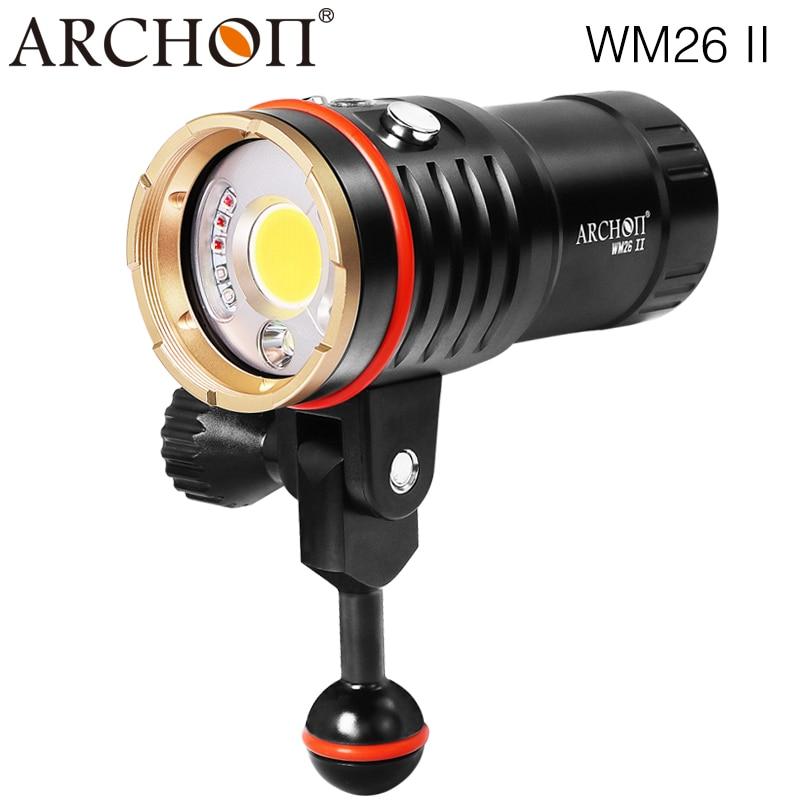 ARCHON DM20-II Aluminum Waterproof XML2 U2 6000 LM white red uv led Diving video micro shooting Flashlight Torch sitemap 20 xml