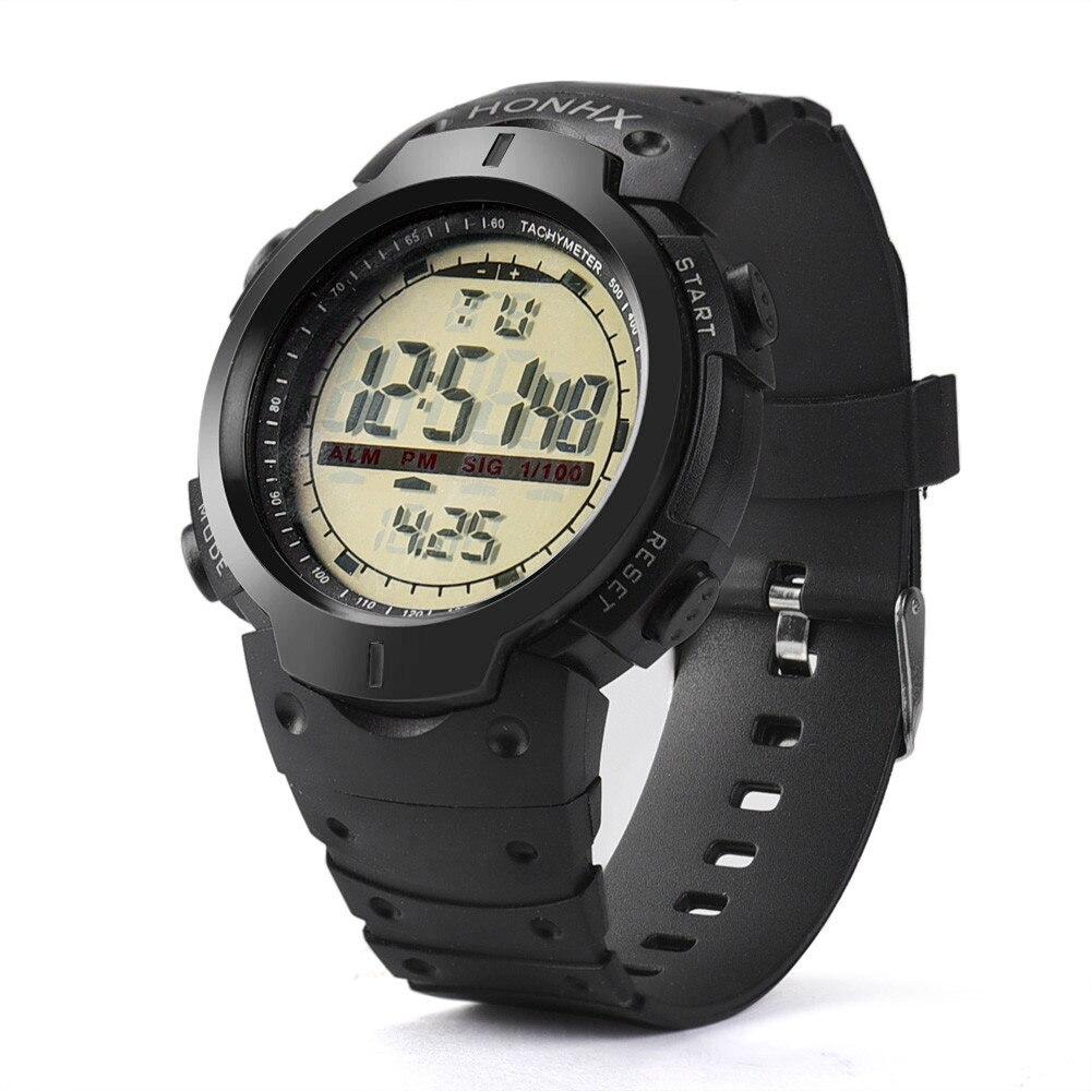 Mewah Jenama Lelaki Sukan Watch LED Digital Tentera kalis air Luar ... 6396c34044