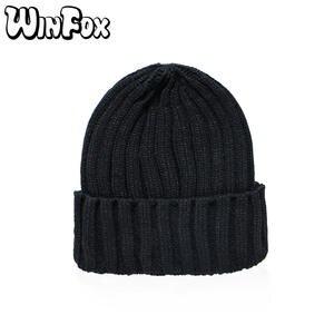 a7dcfb47e Winfox Winter Knitted Beanies Hats For Woman Mens Girls