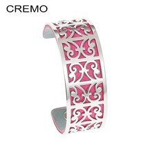 Cremo Goat Bangles Stainless Steel Bracelet Bijoux Femme Hand Cuffs Pattern Bangle Interchangeable Arm Leather Cuff Famous Brand