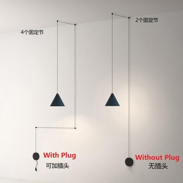 Nordic geometry line pendant lights hanglampen voor eetkamer Hotel ...