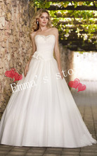 MORI-Free Shipping 2013 New Hot Fashion Designer Ladys Summer A-Line Sweetheart Applique TulleTrain Formal Wedding Dresses