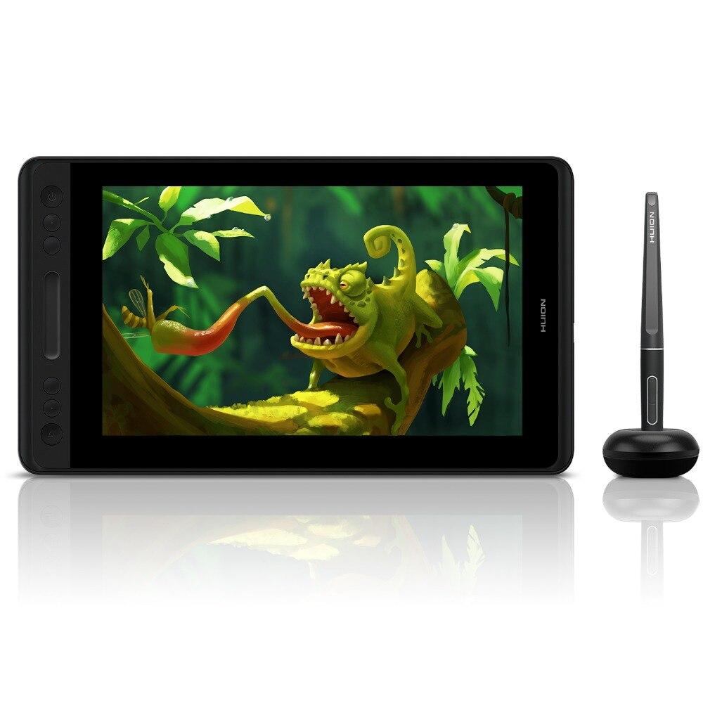 HUION Kamvas Pro 12 GT-116 sans batterie Support d'inclinaison moniteur d'affichage de stylo 11.6 pouces stylo graphique dessin tablette moniteur