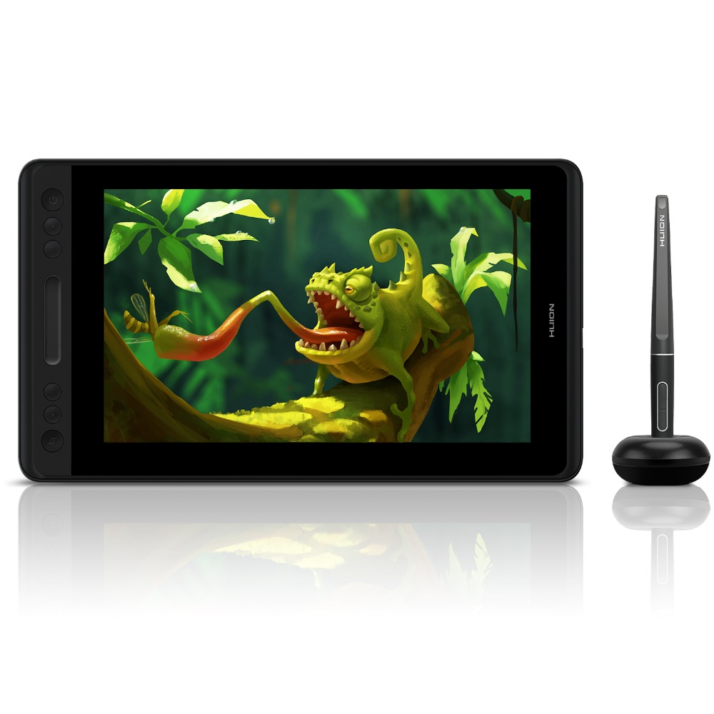 HUION Kamvas Pro 12 GT-116 Battery-Free Tilt Suporte Caneta Caneta Desenho Gráfico Tablet Monitor de Monitor de 11.6 polegada