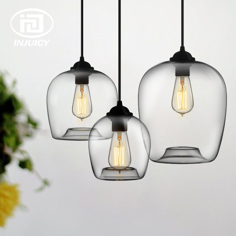 Modern Minimalist Vintage Glass Pendant Lights Coffee Shop
