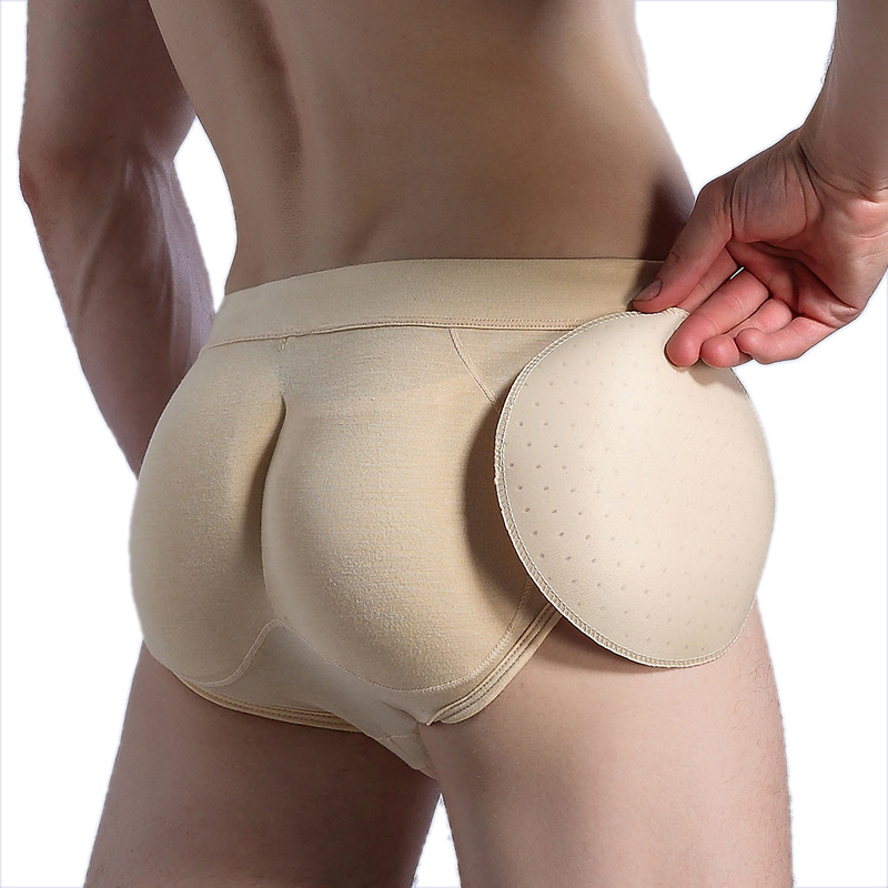 Hot Special for Men Shapewear with Padded Underwear Invisible Crotch Panties Butt Lift Hips Shaper Panty