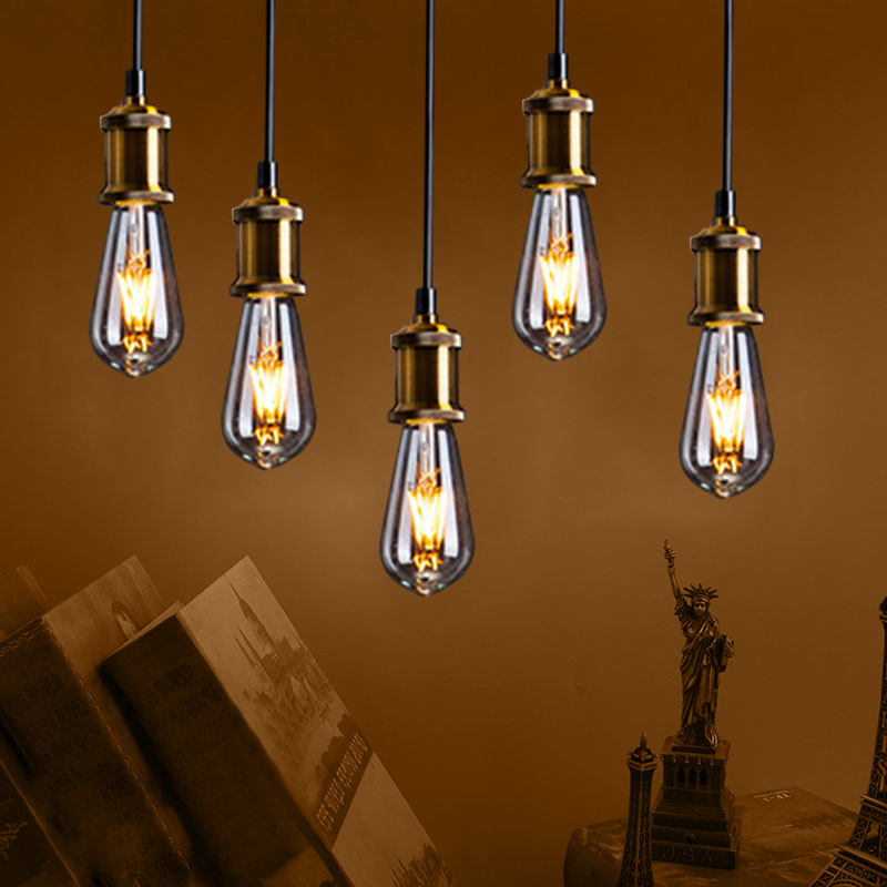 10 Packs LED Candle Filament Light Bulb E14 Vintage C35 Bulb E27 LED Edison 220V A60 2W 4W 6W 8W Replace Incandescent Globe Lamp vintage edison bulb led e27 e14 lamp filament light vintage led bulb lamp 220v retro candle light 2w 4w 6w 8w g45 g80 g95 g125