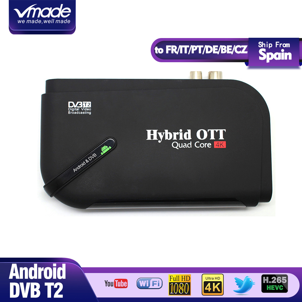 <font><b>DVB</b></font>-<font><b>T2</b></font> & MI TV BOX Smart 4K Ultra HD 1G 8G <font><b>Android</b></font> 7.1 <font><b>octa</b></font> core Film Google Terrestrischen TV Receiver Media Player Set-top-Box image
