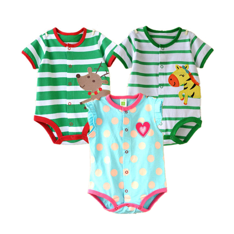 Newborn Baby Rompers Cute Cartoon Cotton Jumpsuit Infant Baby Boy Clothes New Summer Baby Girl Clothing Bebes Roupa Costume 2016 cute baby rompers cotton long sleeve baby clothing overalls for newborn baby clothes boy girl romper ropa bebes jumpsuit