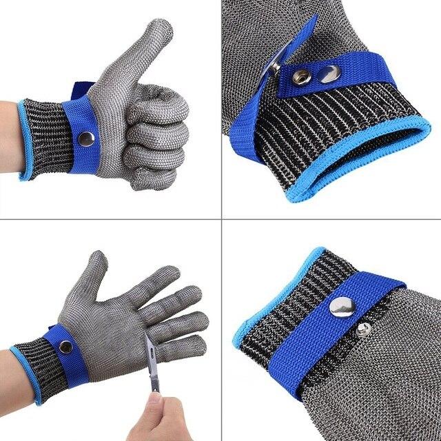 Высокая Производительность Перчатки Безопасности Порезов Stab Устойчив Рабочие Перчатки Провод Нержавеющей Стали Перчатки Cut Металлических Сеток Мясник 5 Анти-вырезать