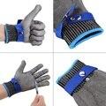 Alto Desempenho Luvas de Trabalho Luvas de Segurança Cut Prova Stab Resistente Luva De Corte de Arame de Aço Inoxidável Metal Mesh Butcher 5 Anti-corte