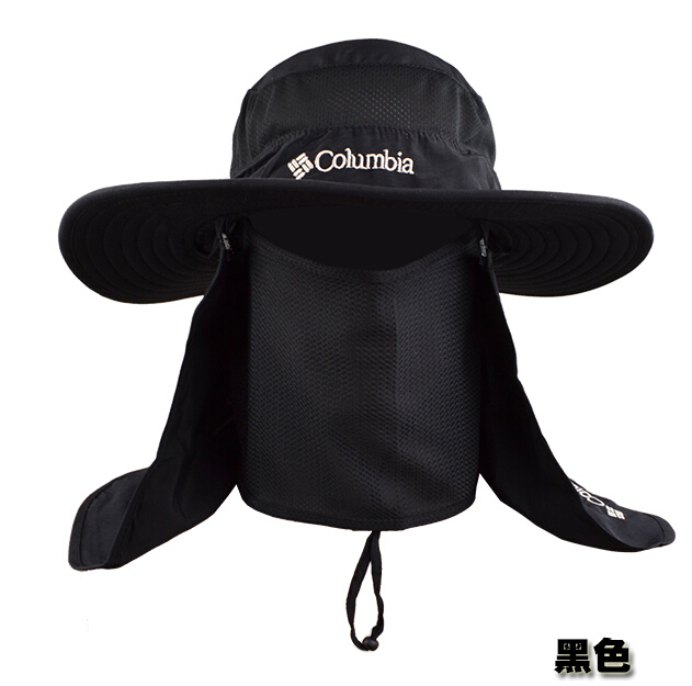 fa58e4dc001f13 Outdoor Summer Men Fishing Sun Hat Climbing UV Protection Bucket Hat With  Neck Face Curtain Cycling