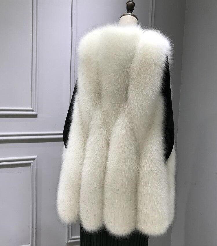 Beige Manteau Épaissir Lady Grand gray Fausse Gilet Femmes Tops Fourrure Vestes Élégant white black Chaud Nouvelle Nuit Sexy Outwear Club 2019 wxfqI0Tw