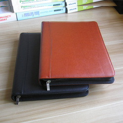 A4 Document bag file folder bill folder with ring binder calculator bags for documents with calculator briefcase padfolio 1311D