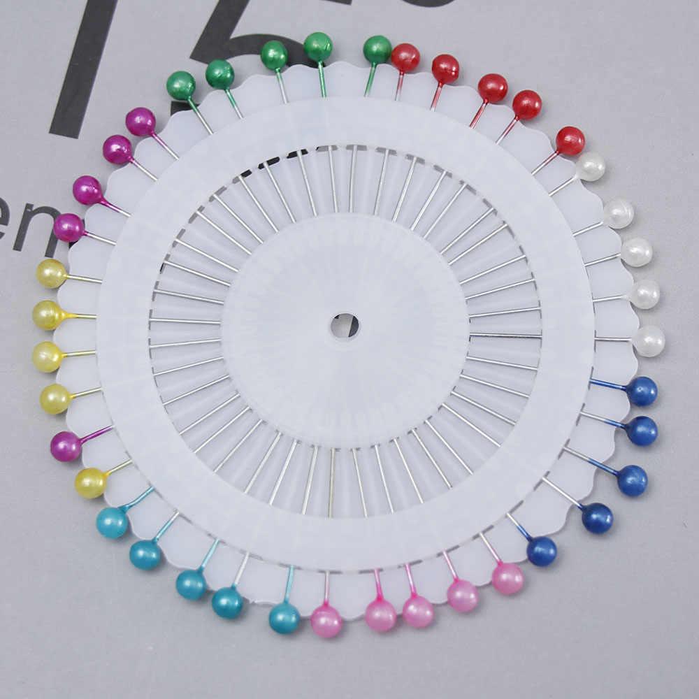 40X Parel Hoofd Pin Wedding Craft Dressmaking Patch Parel Hoofd Wedding Craft Jurk Maken Patchwork Rechte Naald Pins