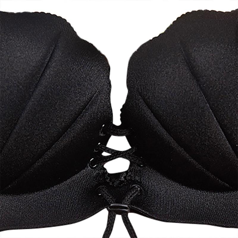 Ladies Sexy <font><b>Bra</b></font> <font><b>Wireless</b></font> Coarse Belt Push High <font><b>Seamless</b></font> Massage Palm Shell Underwear