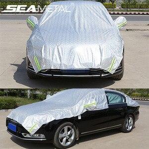 Image 2 - Auto Abdeckung Auto Fenster Sonnenschirm Abdeckung Für Limousine Fließheck SUV PE Film Outdoor Schnee Staub Regen Uv Autos Zubehör