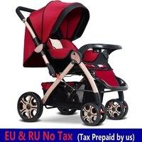 Europe RU NO TAX Baby Stroller Large wheel Big Baby Pram Pushchair Strollers For Children Baby Trolley Baby Car carrinho de bebe