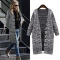 2017 новый осень зима женщины свитер пальто Однобортный шерстяной рубашки пончо де inverno кардиган плечами для женщин трико WA53