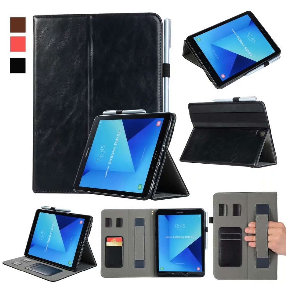 Handheld Pencil Holder Smart Cover Case For Samsung Galaxy Tab S4 10.5 T830 T835 T837 10.5