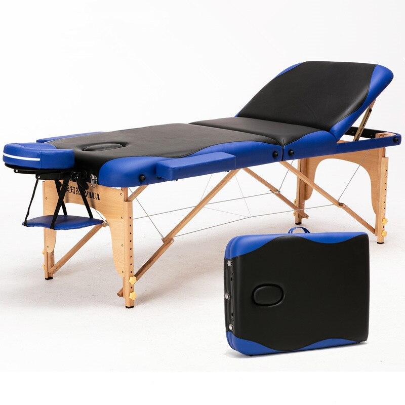 70 cm de large 3 fois professionnel multi-fonction réglage chaise de Salon Table de Massage lit Facial meubles Spa tatouage Table de beauté
