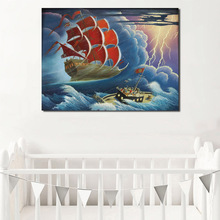 Scrooge McDuck The Flying Dutchman Wall Art Canvas Posters Prints Painting Pictures For Bedroom Modern Home Decor Artwork