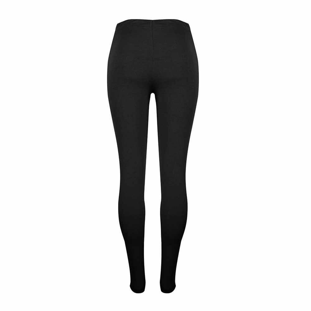 Kadın dantel yoga kıyafeti delik tayt koşu spor giyim ince pantolon pantolon tayt koşu pantolon Ropa Deportiva Mujer