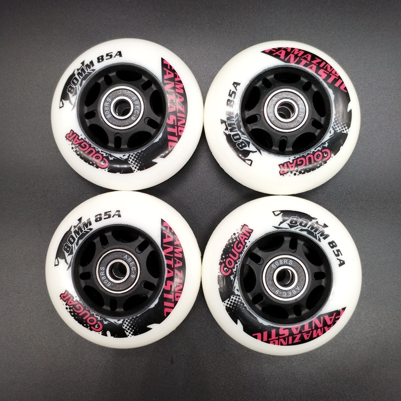 Free Shipping Skate Wheel Roller Wheel PU 80*24 Mm 85 A Including Bearing ABEC-9
