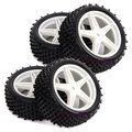 66006-66026  4PCS RC 1/10 Off-Road Car Buggy Front Rear Wheel Rim & Rubber Tyre Tires Fit HSP 1:10
