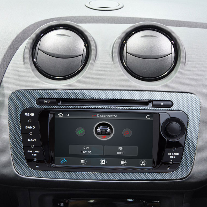 2 Din Auto DVD Player Multimedia Für Seat Ibiza 6J Cupra MK4 SportCoupe Ecomotive Radio 2009 2010 2011 2012 2013 GPS Navigation