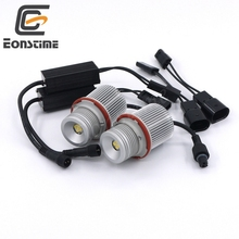 Eonstime Car Angel Eye 2 X 20W LED Chips XT-E 4 LED Angel Eye Light for BMW E83 E60 E65E66E61 E39 E53 E83 X3 Xenon 6500K-7000K