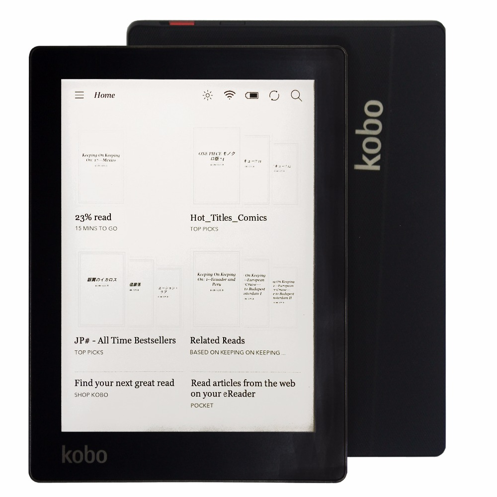 Kobo Aura ereader eink touch screen 6 inch eBook built in Light 1024x768 4GB WIFI eBook