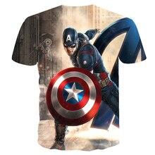 Marvel Avengers Men Superhero Captain America Spider Man Iron Man Tshirt