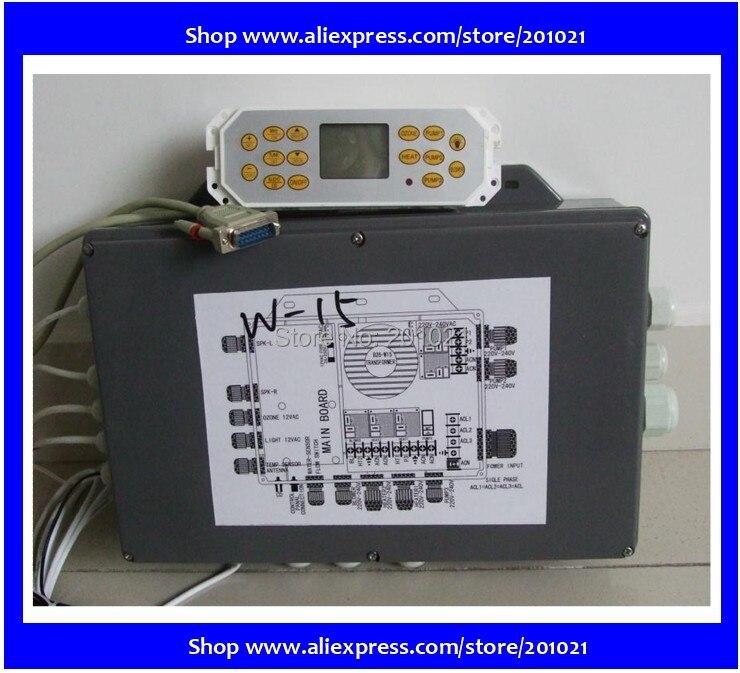 Полный набор 15key желтый клавиатуры и управления мастер коробка для Винер и hotpool КУА спа ванна, spa сервер системы управления КУА спа