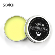 Natural Beard Balm Beard Conditioner Professional For Beard Growth Organic Mustache Wax For beard Smooth Styling 30g sevich