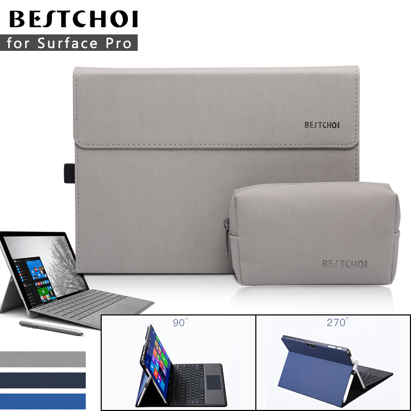 2018 Laptop Sleeve for Microsoft Surface pro 4 tablet Laptop bag case for Surface sleeve New pro 5 Men Laptop Cover Stand laptop sleeve bag for microsoft surface rt pro 3 2 1 surface 3 fashion tablet case cover waterproof hand holder design pouch
