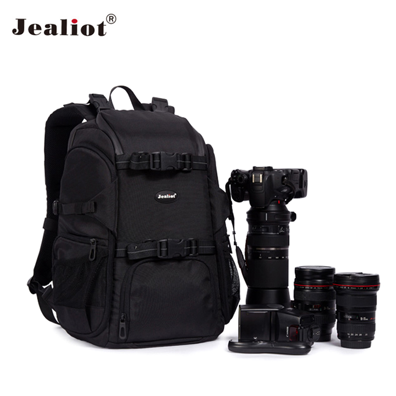 2017 Jealiot Professional Camera Bag laptop Backpack waterproof DSLR digital camera Photo case for Canon Nikon Free shipping caden m5 camera bag backpack waterproof canvas gray photo video carry case digital camera case for dslr canon nikon