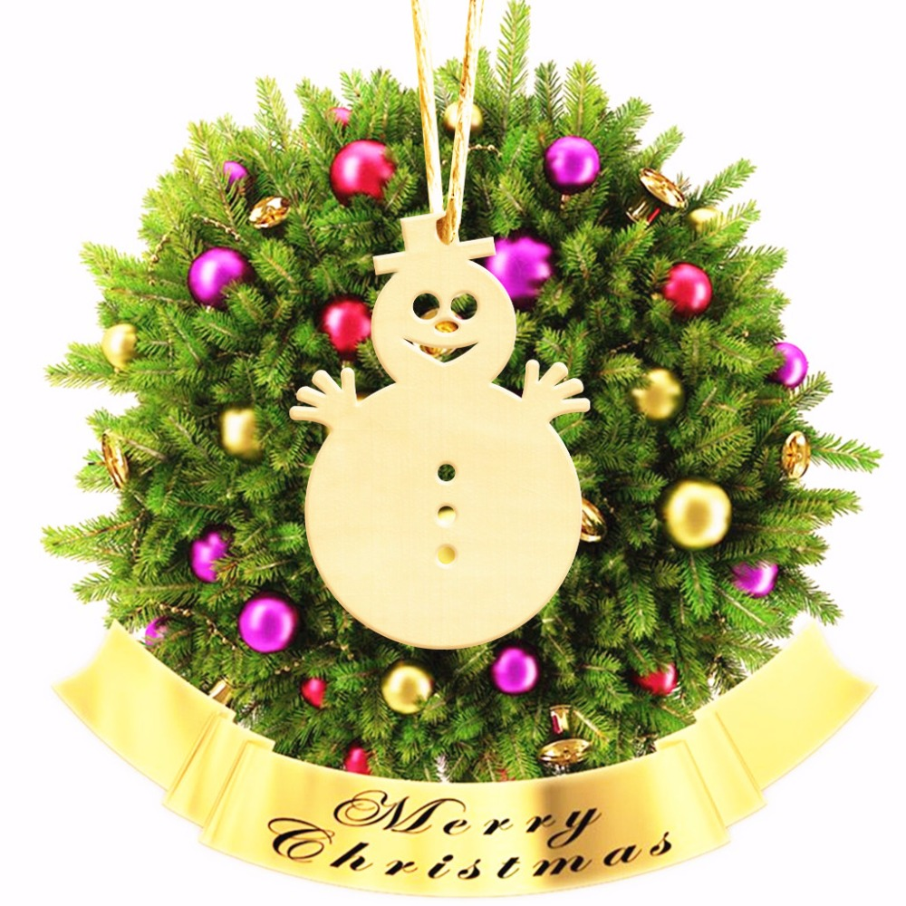 10pcs Wood Wooden S Snowman Christmas Tree Home Ornaments Hanging Scrapbooking Decorations Christmas Gift for Kids ...