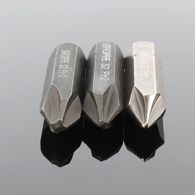 HOEN 3pcs 8mm Hex Heavy Duty Impact precision screwdriver For Loosen Screws Cross Electric Magnetic Screwdriver Bit Set