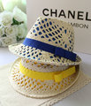 Free shipping multicolour cutout high quality double layer radiation-resistant anti-uv sun-shading strawhat kaki women hat