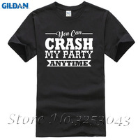 Crash My Party Anytime Mens Tee Top Luke Country Song Music Concert Sleeve