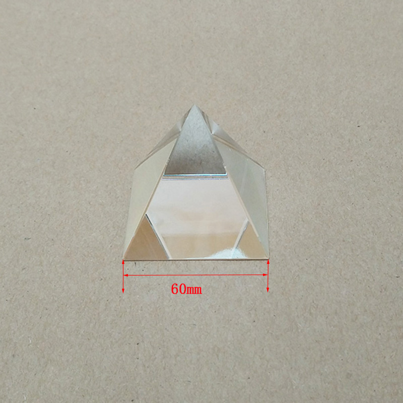 1PC 60mm Optical Glass Four Sides pyramid Prism For Optical Experiment Optics Instruments Rainbow Principle Research