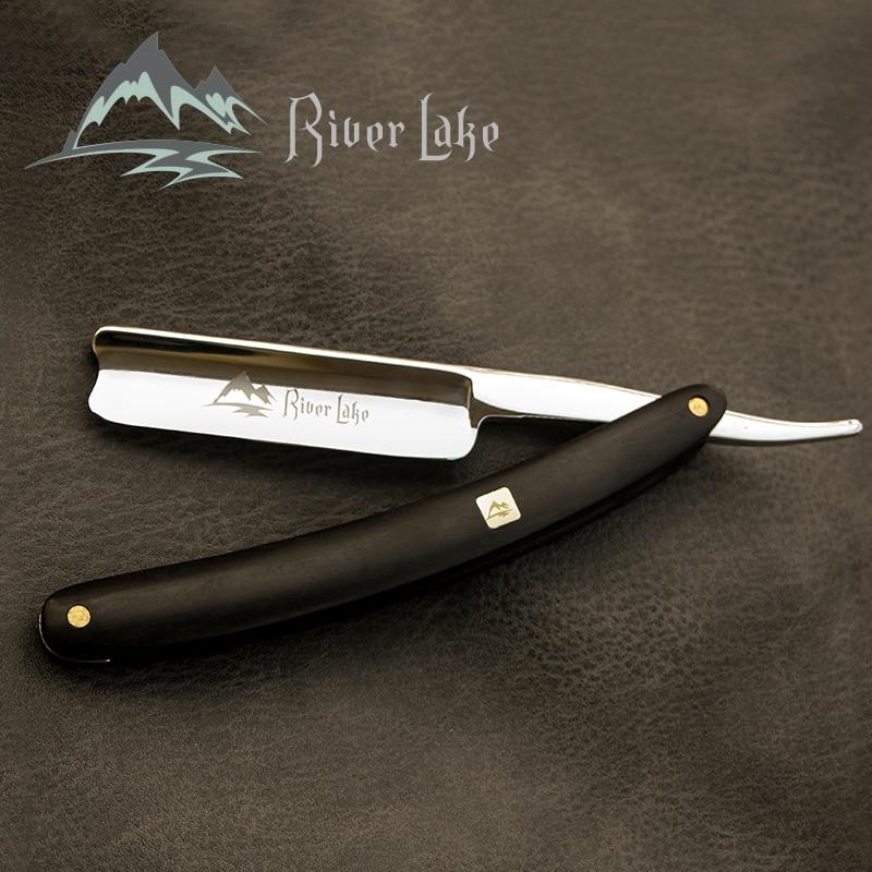 River Lake Folding Shaving Knife Professional Men Manual Beard Shaver Cutter Stainless Steel Straight Edge Barber Razor