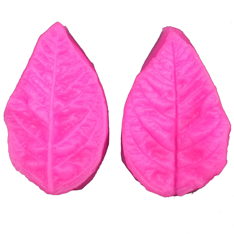 Free Shipping leaves silicone mold chocolate fudge cake decorated kitchen tools blow molding sugar FT-117