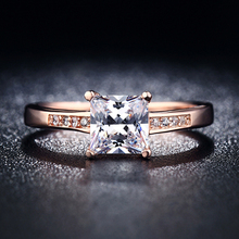 18k gold plated/rose gold jewelry for women CZ diamond romantic engagement wedding rings bague Accessories bijoux  MYR18K012