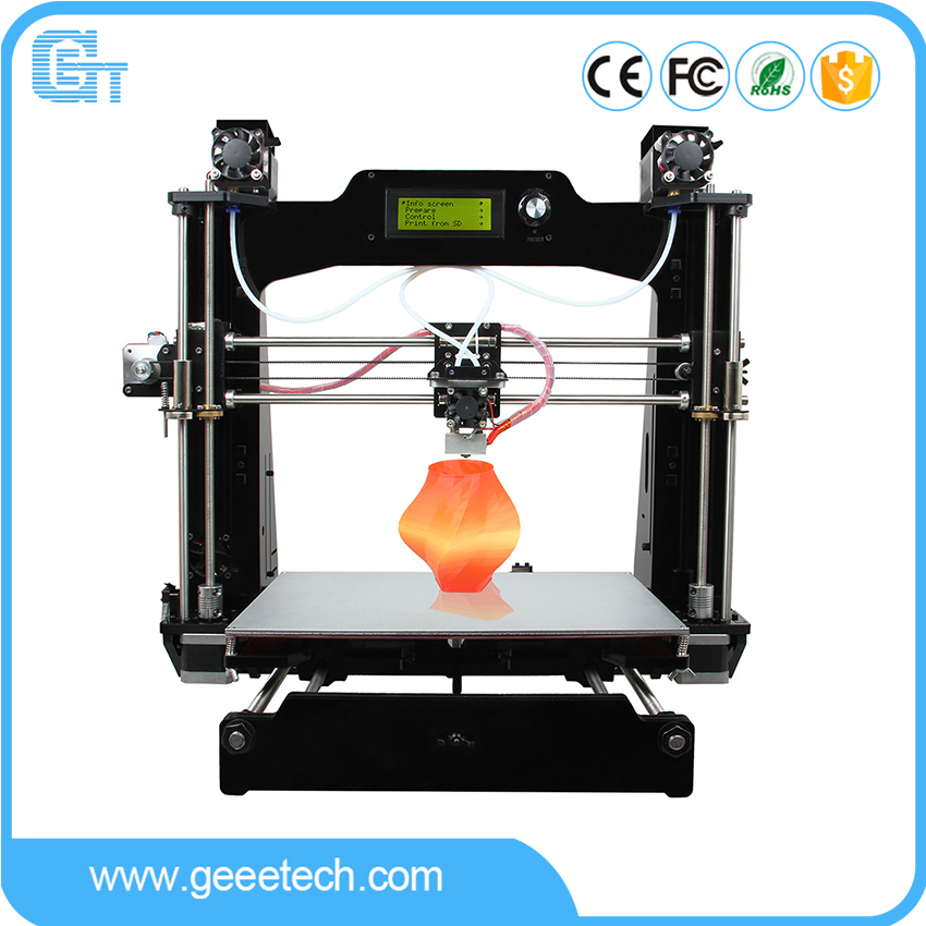 Geeetech M201 3D Printer 2-In-1-Out Extruder Reprap Prusa I3 DIY Kit  .STL, G-code High Resolution Impressora LCD armani jeans шорты женские