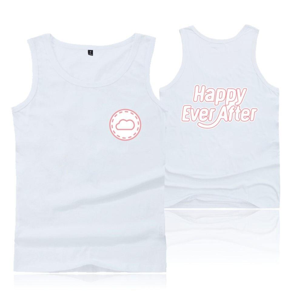 2018 Новая горячая Распродажа Happy Ever After Топы BTS летняя одежда тренировки Стиль Повседневное Для женщин и Для мужчин Футболки плюс Размеры XXS-4XL