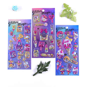 12pcs Kawaii Stationery Stickers Cute Shake Ice cream Diary Planner Decorative Mobile Stickers Scrapbooking DIY Craft Stickers