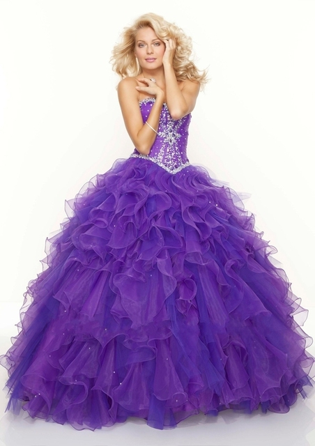 70c7609133 Vestidos De 15 Anos Luxury Ruffles Royal Purple Quinceanera Dresses Ball  Gown Real Photo 2015 Appliqued Sweet 16 Dress HQ128